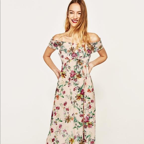 e7e685c6 Zara Dresses   Nwot Crossover Floral Long Maxi Dress   Poshmark